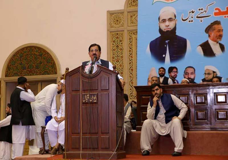 پنجابی سندھی بلوچی اور پختون سب پاکستان کے شہری ہیں: خرم نواز گنڈاپور کا ایوان اقبال لاہور میں تقریب سے خطاب