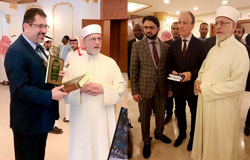 او آئی سی کے اجلاس میں شریک نمائندگان کی شیخ الاسلام ڈاکٹر محمد طاہرالقادری سے ملاقات