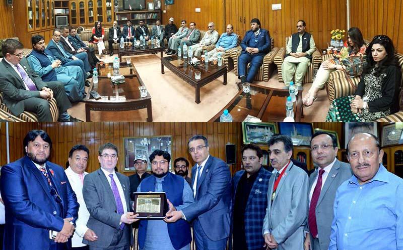 پاکستان چیمبر آف کامرس یوکے کے وفد کا منہاج القرآن کے مرکزی سیکرٹریٹ کا دورہ