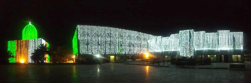 منہاج القرآن شہر اعتکاف کی تیاریاں و تزئین و آرائش کا کام تیزی سے جاری