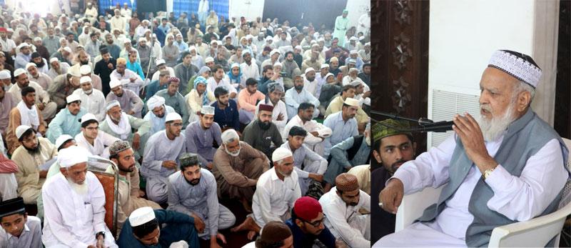 شہر اعتکاف میں مفتی عبدالقیوم خان ہزاروی کی فقہی نشست