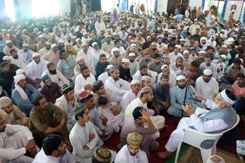 Itikaf City 2019: Mufti Abdul Qayyum Khan Hazarvi delivers talk on jurisprudential matters