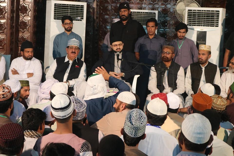 شہر اعتکاف میں ڈاکٹر حسن محی الدین قادری سے خیبر پختون خواہ، بلوچستان اور کراچی کے معتکفین کی ملاقات