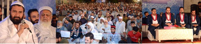 صوبائی وزراء راجہ یاسر ہمایوں اور سید سعید الحسن شاہ کی شہر اعتکاف آمد