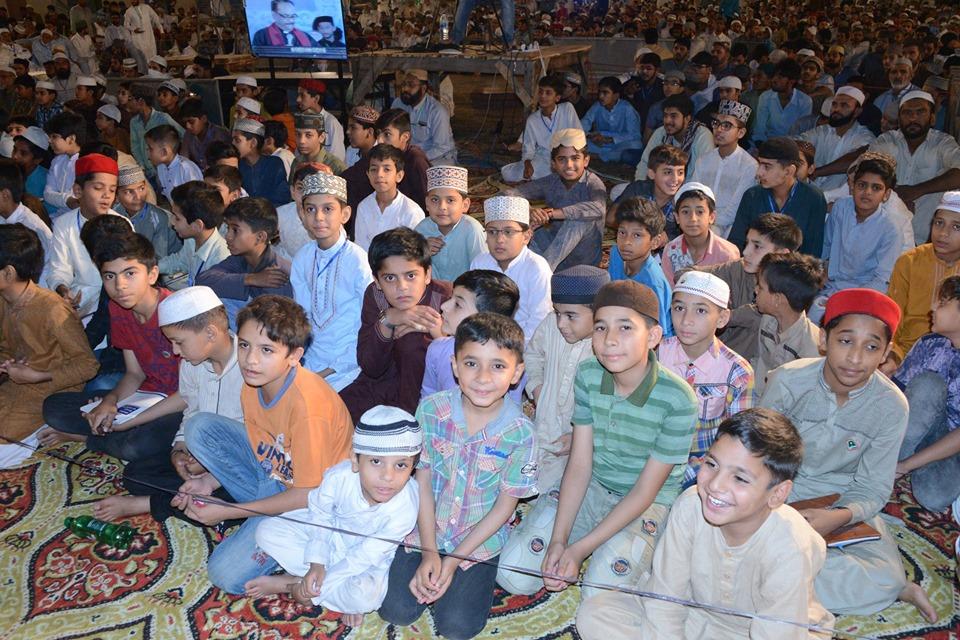 کڈز اعتکاف کے بچوں کی شیخ الاسلام کے خطاب کی نویں نشست میں خصوصی شرکت