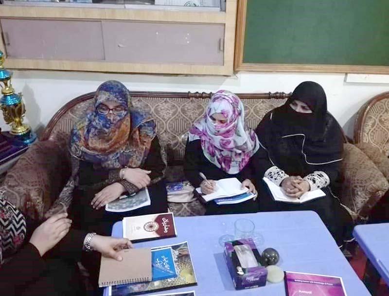 منہاج القرآن ویمن لیگ تحصیل جہلم کا اجلاس