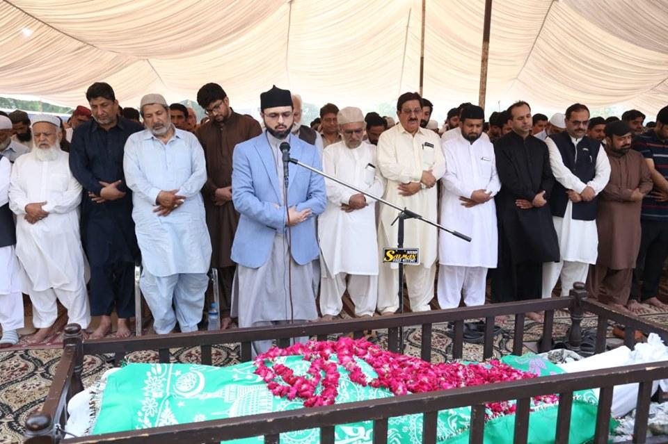 شیخ الاسلام ڈاکٹر محمد طاہرالقادری کے جواں سالہ بھانجے عدنان جاوید کی نماز جنازہ  لاہور میں ادا کر دی گئی