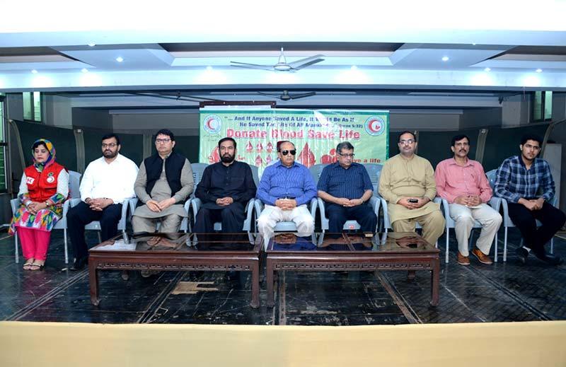 منہاج القرآن کے مرکزی سیکرٹریٹ میں ہلال احمر پاکستان کی تقریب، درجنوں کارکنان نے خون کے عطیات دیئے