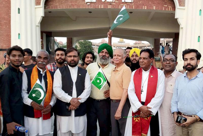 انٹرفیتھ ریلیشنز منہاج القرآن کی واہگہ بارڈر پر جشنِ آزادی تقریب