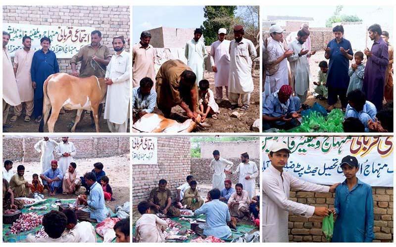 منہاج القرآن اور منہاج ویلیفئر فاونڈیشن کے زیراہتمام بلوچستان بھر میں اجتماعی قربانی کا اہتمام
