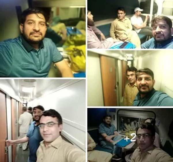 مظہر محمود علوی کی کراچی آمد پر استقبال