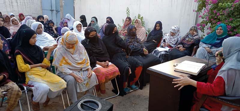 حجاب عورت کی عظمت کا نشان اورخودداری کی پہچان ہے: صدر منہاج القرآن ویمن لیگ ملتان ہما اسماعیل کا اجلاس سے خطاب