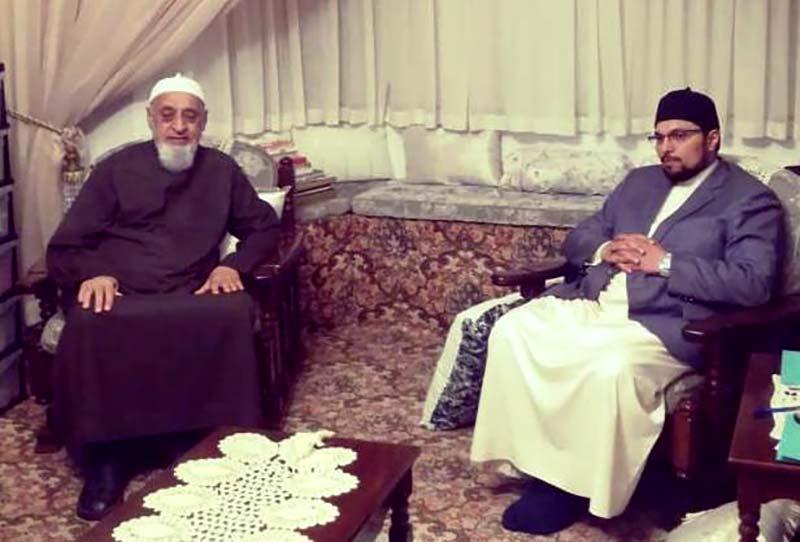 کیپ ٹاؤن: مولانا شاہ قطب الدین حبیبی صوفی کی ڈاکٹر حسین محی الدین قادری سے ملاقات