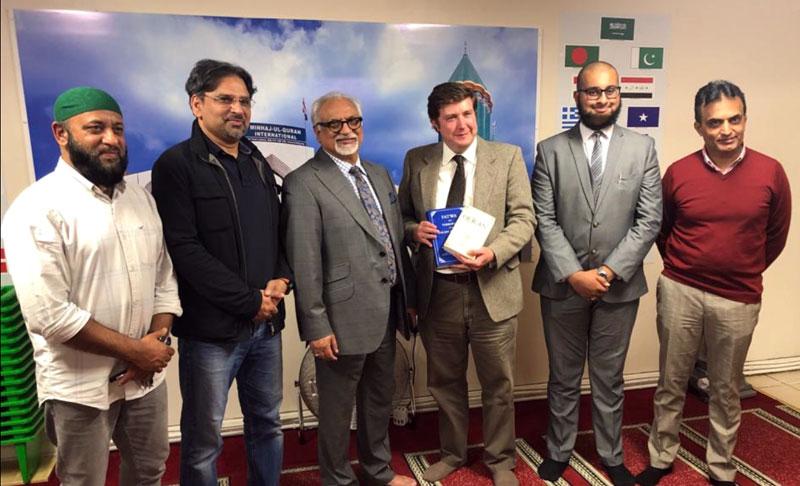 MP Andrew Lewer کا منہاج القرآن انٹرنیشنل نارتھ ہمپٹن کا دورہ