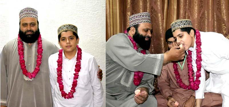 معروف قانون دان لہراسب خان گوندل ایڈووکیٹ کے بیٹے حافظ محمد عثمان گوندل نے قرآن کریم حفظ کر لیا