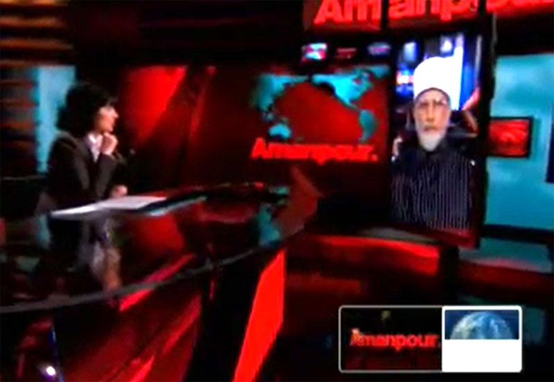 Dr Muhammad Tahir-ul-Qadri on CNN with Amanpour on Fatwa against terrorism