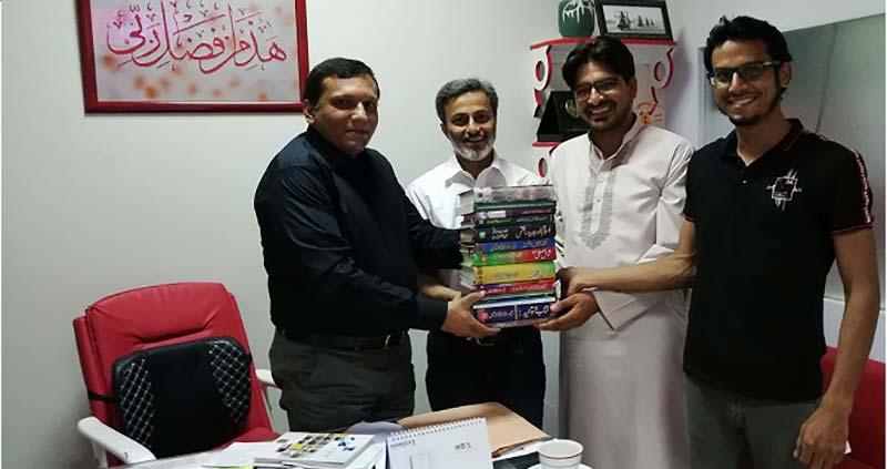 تحریک منہاج القرآن کراچی کے رہنماؤں کا نجی چینل کا دورہ