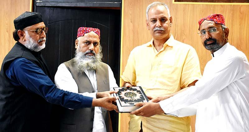 تحریک منہاج القرآن  ملتان کے وفد کی وائس چانسلر زرعی یونیورسٹی پروفیسر ڈاکٹر راؤ آصف سے ملاقات