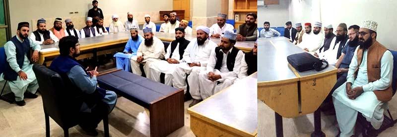 منہاج القرآن علماء کونسل ننکانہ صاحب اور شیخوپورہ  کے وفود کی ڈاکٹر حسین محی الدین قادری سے ملاقات