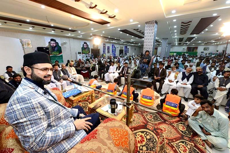 سرگودھا:  ورکرز کنونشن میں ڈاکٹر حسن محی الدین قادری کا خطاب