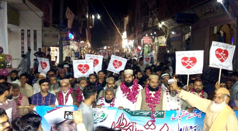 تحریک منہاج القرآن حافظ آباد کے زیراہتمام مشعل بردار میلاد جلوس