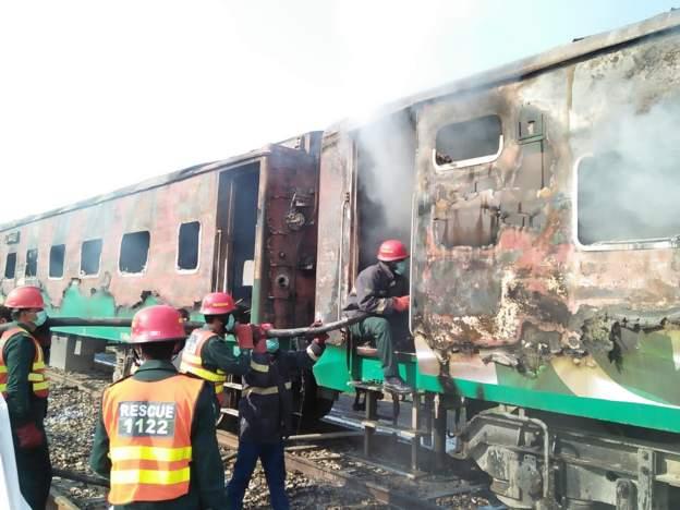 عوامی تحریک کے رہنماؤں کا ٹرین حادثے اور قیمتی جانوں کے ضیاع پر اظہار افسوس