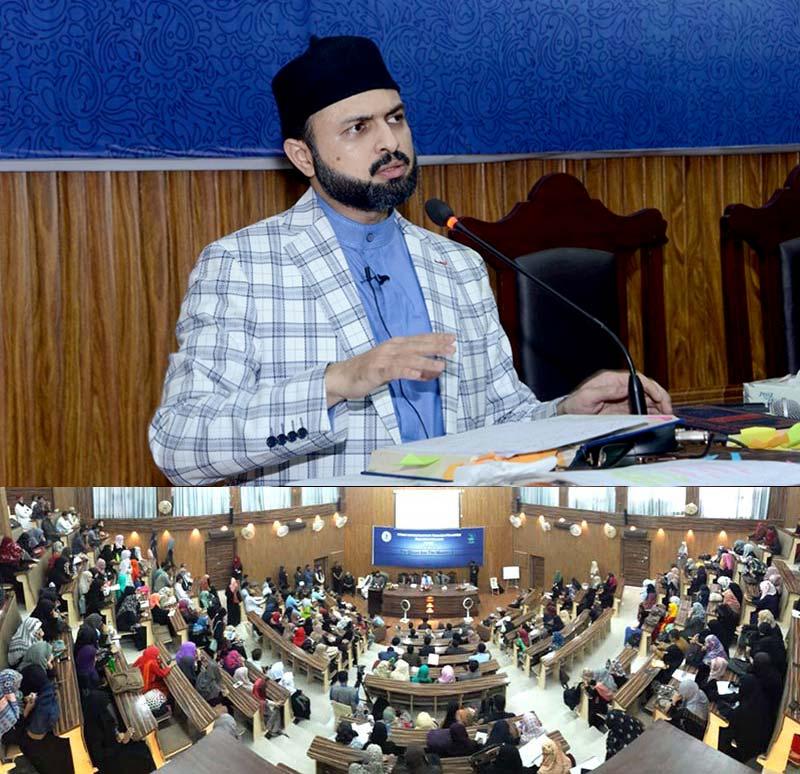 """ڈاکٹر حسن محی الدین قادری کا کراچی یونیورسٹی میں سیمینار """"قرآن اور عہد جدید"""" سے خطاب"""