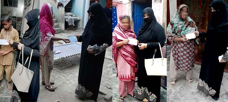 جہلم: WOICE زیراہتمام کوٹلہ فقیر میں 25 مستحق خواتین میں کیش کی تقسیم