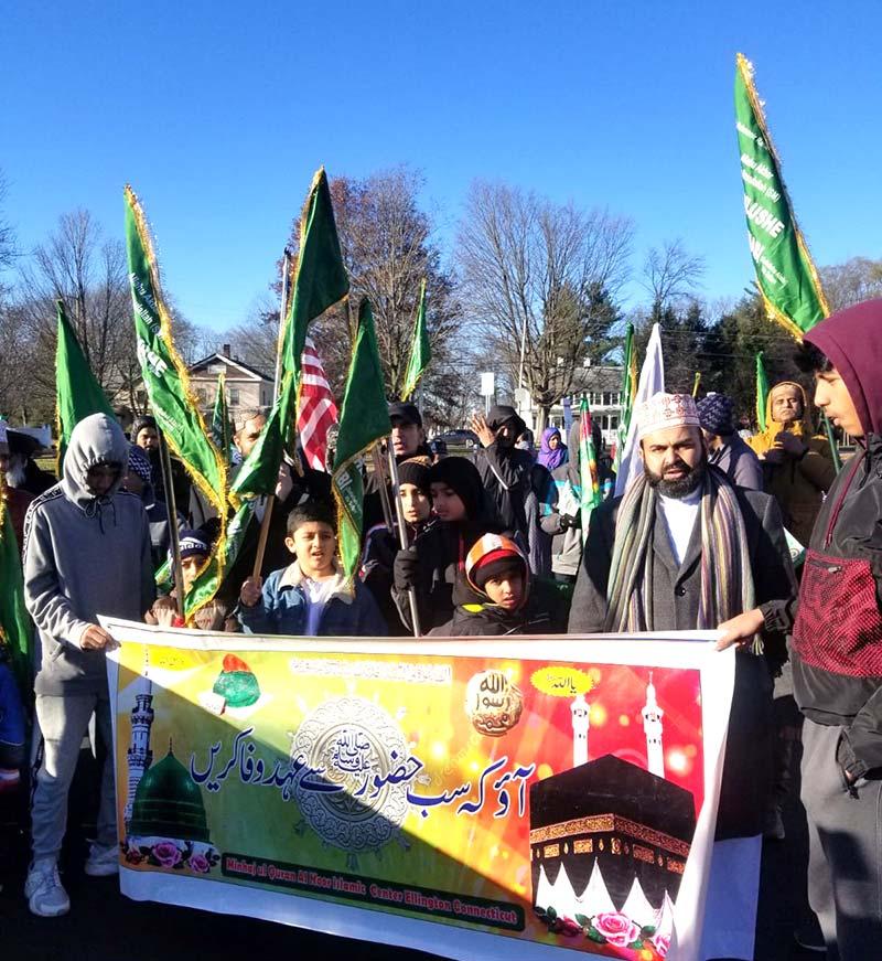 امریکہ: منہاج القرآن کے زیراہتمام ریاست کنیٹیکٹ میں چوتھا سالانہ میلاد جلوس