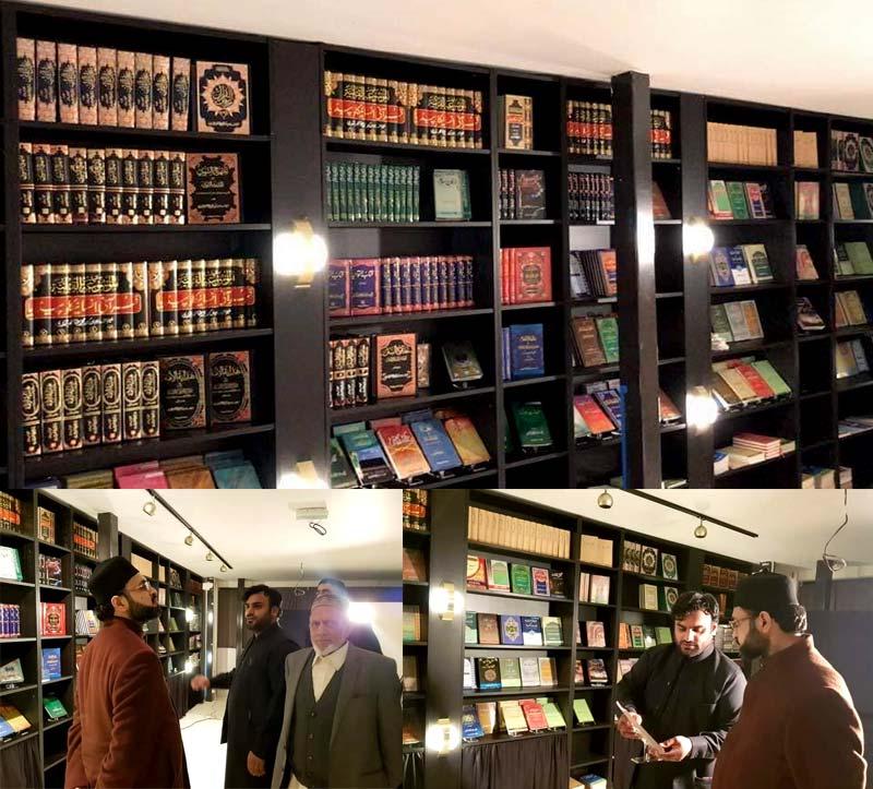 ڈاکٹر حسن محی الدین قادری کا منہاج القرآن فرانس مرکز میں لائبریری کا وزٹ