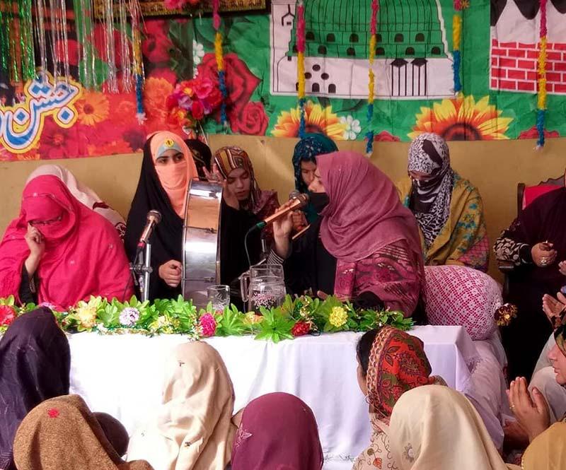 منہاج القرآن ویمن لیگ نوشہرہ کے زیراہتمام محفل میلاد