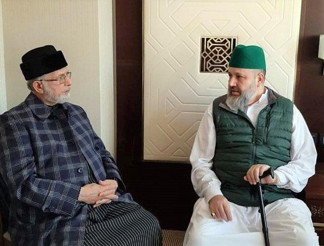 مدینہ منورہ: پیر سید عبدالقادر جمال الدین القادری الگیلانی کی شیخ الاسلام ڈاکٹر محمد طاہر القادری سے ملاقات