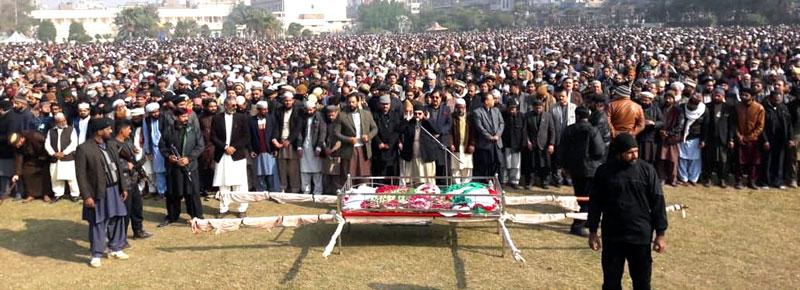 تحریک منہاج القرآن کے سینئر رہنما سید ہدایت رسول شاہ قادری کو سپرد خاک کر دیا گیا