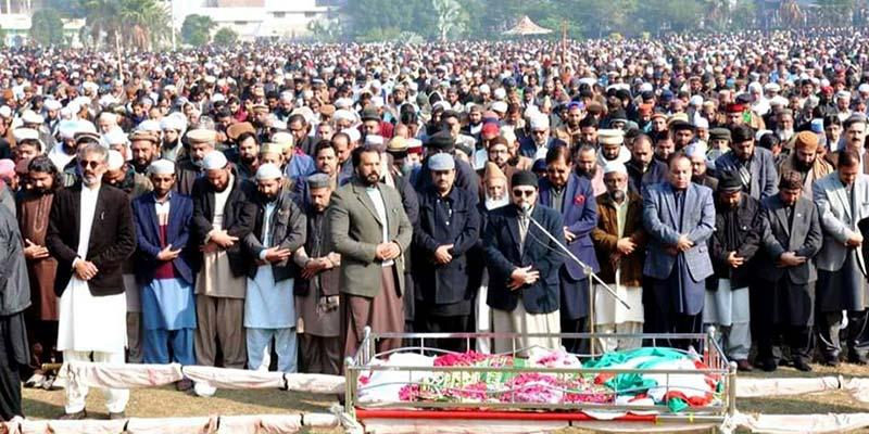 فیصل آباد: تحریک منہاج القرآن کے رہنما سید ہدایت رسول شاہ قادری سپرد خاک، نماز جنازہ میں ہزاروں افراد کی شرکت
