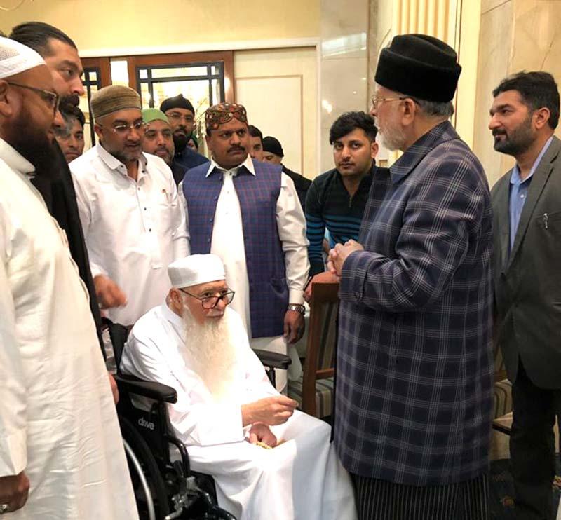 مدینہ منورہ: شیخ محمد ہشام کبانی کی شیخ الاسلام ڈاکٹر محمد طاہرالقادری سے ملاقات