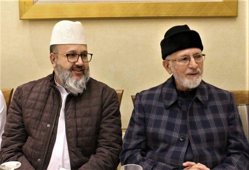 مدینہ منورہ: شیخ الاسلام کی جانب سے پیر سید عبدالقادر جمال الدین القادری الگیلانی کے اعزاز میں عشائیہ