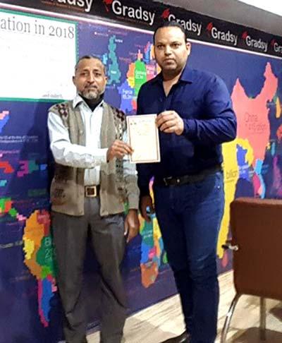 منہاج ایجوکیشن سوسائٹی کے سیکرٹری اطلاعات راؤ اشتیاق کی سید ذاکر احمد  سے ملاقات