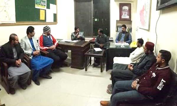 منہاج یوتھ لیگ لاہور کیبنٹ کا اجلاس