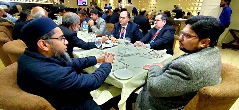 منہاج یونیورسٹی لاہور کی عالمی کانفرنس کے مہمانوں کے اعزاز میں ڈنر تقریب