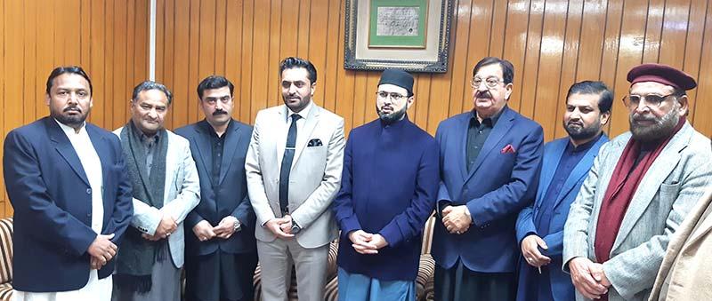 پاکستان عوامی تحریک شمالی پنجاب کے عہدیداروں کی ڈاکٹر حسن محی الدین قادری سے  ملاقات