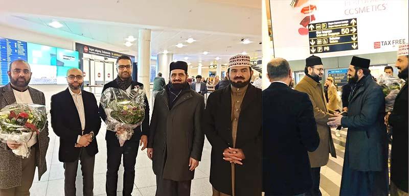 ڈنمارک : ڈاکٹر حسن محی الدین قادری دورہ یورپ کے لیے کوپن ہیگن پہنچ گئے