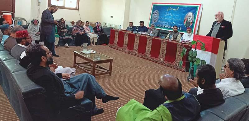 پاکستان عوامی تحریک کراچی کا سید ظفر اقبال کے اعزاز میں استقبالیہ