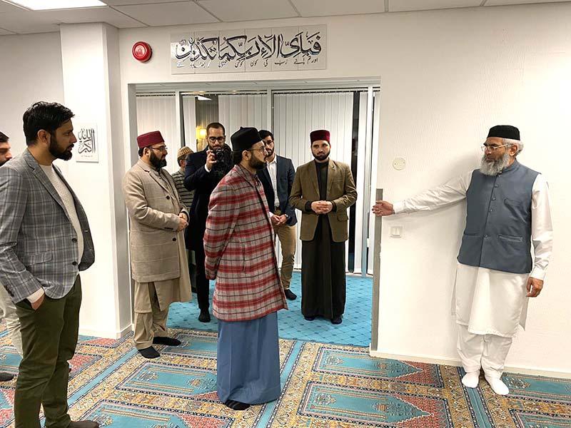 اوسلو: ڈاکٹر حسن محی الدین قادری کا النور اسلامک سنٹر کا وزٹ