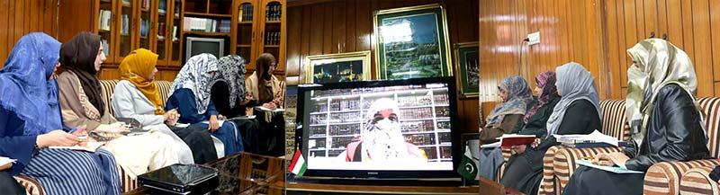 منہاج القرآن ویمن لیگ کی مرکزی سنٹرل ایگزیکٹیو کا اجلاس