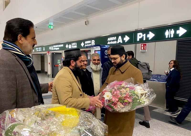 ڈاکٹر حسن محی الدین قادری اٹلی پہنچ گئے، پرتپاک استقبال