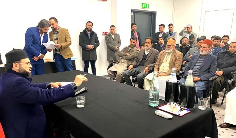 منہاج القرآن انٹرنیشنل اٹلی تنظیمات کے عہدیداروں کی ڈاکٹر حسن محی الدین قادری سے ملاقات