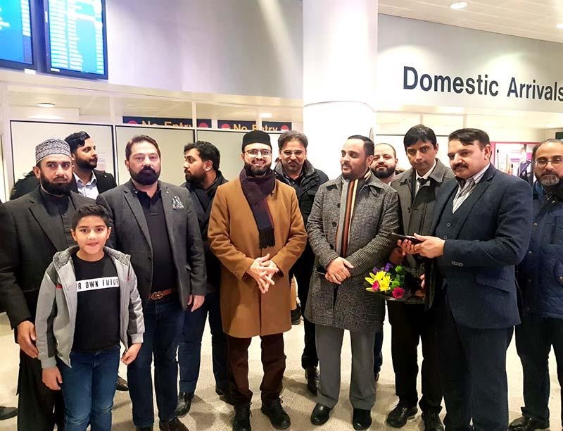 ڈاکٹر حسن محی الدین قادری برطانیہ پہنچ گئے