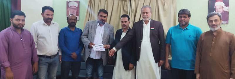 ملت کشمیر کے وفد کی پاکستان عوامی تحریک کو کشمیر کانفرنس میں شرکت کی دعوت