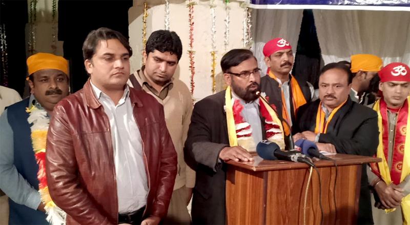 شیوالہ مندر سیالکوٹ میں شیوراتری کی تقریب، ڈائریکٹر منہاج انٹرفیتھ ریلیشنز کی  شرکت