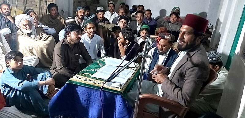 لنڈی سیدان محمد پور میں علامہ صابر کمال کا درس عرفان القران